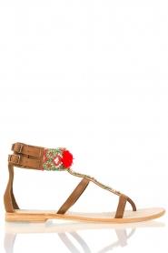 Antik Batik | Leren sandalen Thor | bruin  | Afbeelding 3