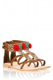 Antik Batik | Leren sandalen Thor | bruin  | Afbeelding 1