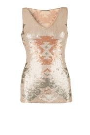 Sequined top Galvane | salmon