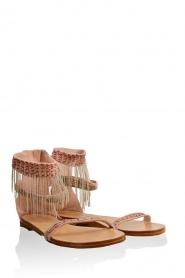 Ambre Babzoe | Leren sandalen Vinding | roze   | Afbeelding 1
