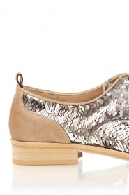 Leather shoes Chita | silver