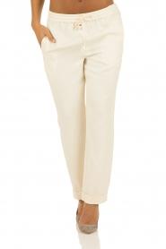 Hoss Intropia | Pantalon Luzia | off-white   | Afbeelding 2