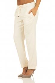 Hoss Intropia | Pantalon Luzia | off-white   | Afbeelding 4