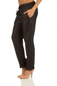 Hoss Intropia | Pantalon Luzia | zwart  | Afbeelding 4