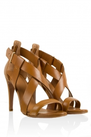 Leather sandals Amata | brown