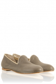 Leather loafers Eden | grey