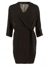 Dante 6 | Zijden jurk Mair | zwart   | Afbeelding 1
