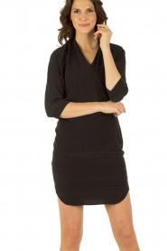 Dante 6 | Zijden jurk Mair | zwart   | Afbeelding 2