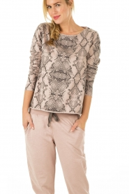 Juvia | Sweater Snake | roze   | Afbeelding 2