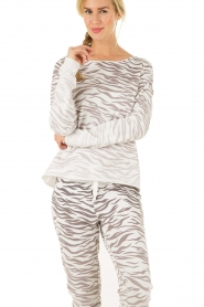 Juvia | Trui Zebra | grijs   | Afbeelding 2