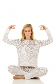 Juvia | Trui Zebra | grijs   | Afbeelding 3