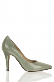 Leather pumps Nicole | green