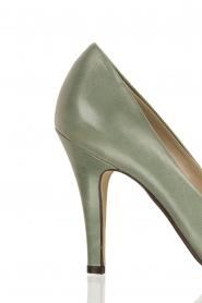 Leren pumps Nicole | groen