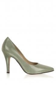Noe | Leren pumps Nicole | groen   | Afbeelding 1