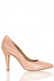 Leren pumps Nicole  roze