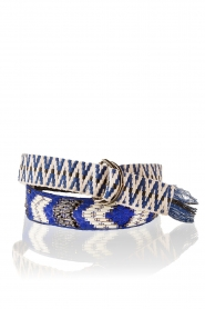 Hoss Intropia | Riem Indian | blauw