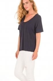 Linen T-shirt Holborn | dark blue