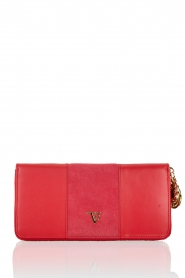 Leather wallet Jackie | red