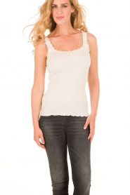 Silk top Babette | cream