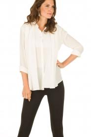 M Missoni | Zijden blouse Diana | off-white   | Afbeelding 2