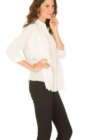 M Missoni | Zijden blouse Diana | off-white   | Afbeelding 4