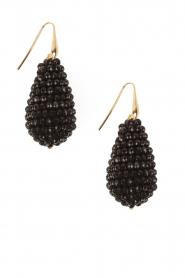 Earrings Crystal Drops XL | black