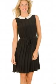 M Missoni | Zijden jurk Donata | zwart   | Afbeelding 2
