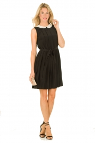 M Missoni | Zijden jurk Donata | zwart   | Afbeelding 3