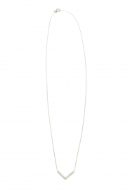 Gold necklace Triangle | white gold