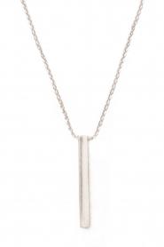 Gouden halsketting Tube | witgoud