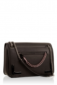 Leather shoulder bag Diana | black
