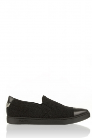 Leather slip-on Georgie | black