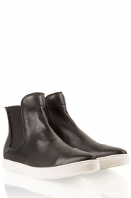 SVNTY | Leren boots Georgie | zwart   | Afbeelding 1