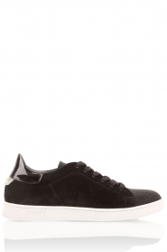 Leather sneakers Valentina | black