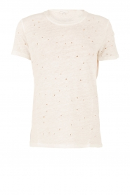 Linnen T-shirt Clay | ecru