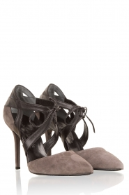 Leather pumps Wilde Side | taupe