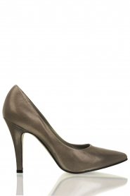 Leather pumps Nicole | grey
