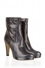 Leather ankle boots Nabla | dark blue