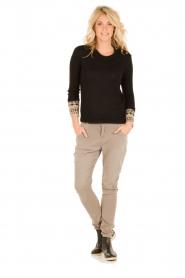 Aaiko | Boyfriend jeans Miondo | zand   | Afbeelding 3