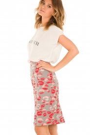 Pencil skirt Kiby | red