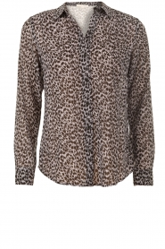 MICHAEL Michael Kors | Blouse Jaguar | zwart-offwhite   | Afbeelding 1