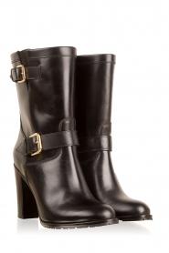 L'Autre Chose | Leren laarzen Ferrucio | zwart   | Afbeelding 3