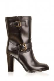 L'Autre Chose | Leren laarzen Ferrucio | zwart   | Afbeelding 1