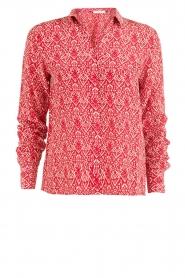 ba&sh | Zijden blouse Zilou | rood   | Afbeelding 1