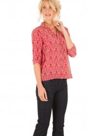 ba&sh | Zijden blouse Zilou | rood   | Afbeelding 2