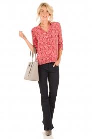 ba&sh | Zijden blouse Zilou | rood   | Afbeelding 3
