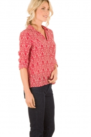 ba&sh | Zijden blouse Zilou | rood   | Afbeelding 4