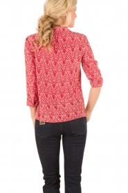 ba&sh | Zijden blouse Zilou | rood   | Afbeelding 5