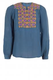 Antik Batik | Blouse Kwanita | blauw  | Afbeelding 1