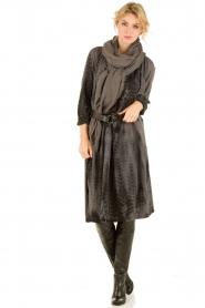 Antik Batik | Leren riem Obi | zwart  | Afbeelding 2